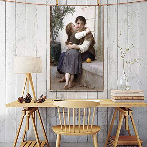 wZUN Pequeño Cartel coaxial del Pintor Esteticista francés Impreso en Lienzo 50x80cm