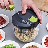 ELEにんにくマッシャー フードチョッパー 肉挽き機 みじん切り器 大蒜 にく やさい 絞り 手動 500ml 水洗い可能 (500ml)