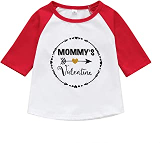 Conversege Valentine Toddler Baby Boy Girl Letter Tee Tops T-Shirt Kids Casual Clothes