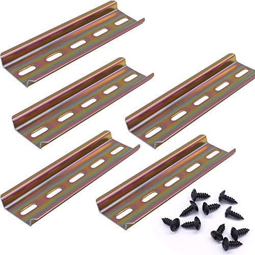 Taiss/5 pezzi Guida DIN in Acciaio Colorato di Alta Qualità, per Installazione in Armadio di Distribuzione,Armadio Elettrico,Larghezza 35 mm,Altezza 7.5 mm, Lunghezza 100 mm/4'-G
