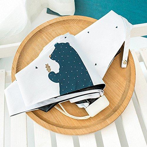 TGBN Mini Sunny Umbrella Regen Frauen langlebige Faltschirme Weiblicher Sonnenschirm Schöne Cartoon Regenschirm Lieferungen, 014