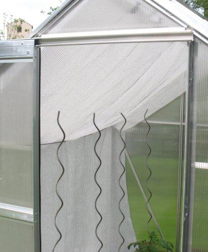 Gewächshaus Schattiernetz Hagelschutz Sonnenschutz - Breite 4,0m x Länge 5,0m, weiß, 80% Schattierwert