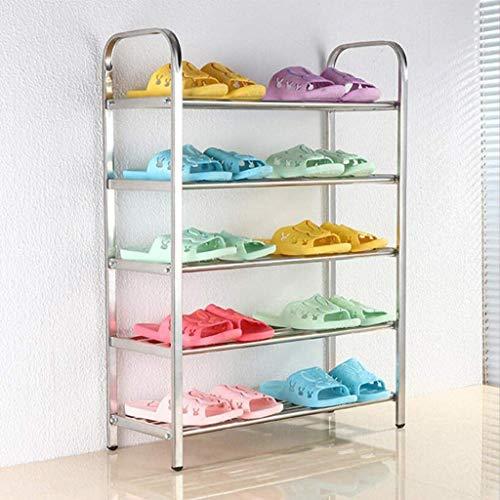 Zapatero, Zapatillas a prueba de polvo Gabinete Zapato abierto, estante de almacenamiento, estantes ajustables, hierro industrial, para zapatos Plantas Libros Decoraciones (Color: 4 Nivel (60 x 20x 60