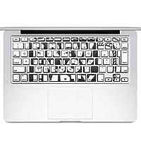 igsticker MacBook Air 13inch 2010 ~ 2017 専用 キーボード用スキンシール キートップ ステッカー A1466 A1369 Apple マックブック エア ノートパソコン アクセサリー 保護 011014 ビール 英語 ジョッキ