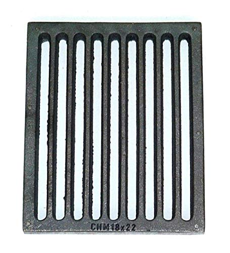 Powermat Ofenrost Gussrost für Hark 48 Kamin Ofen Ascherost Tafelrost Kaminrost 22x18 cm