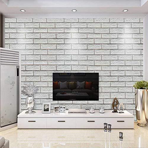 Instalación conveniente múltiple 10M PVC auto-adhesivo del papel pintado de ladrillos de piedra 3D de papel etiqueta de la pared de la cocina dormitorio del fondo de la sala de TV decorativo Pegatinas