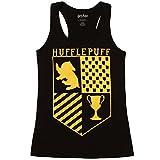 Harry Potter Hufflepuff Juniors Racerback Tank Top - Black (XX-Large)