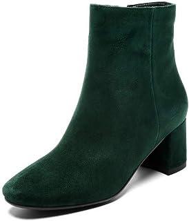 BalaMasa Womens Nubuck Bucket-Style High-Heel Urethane Boots ABM13373