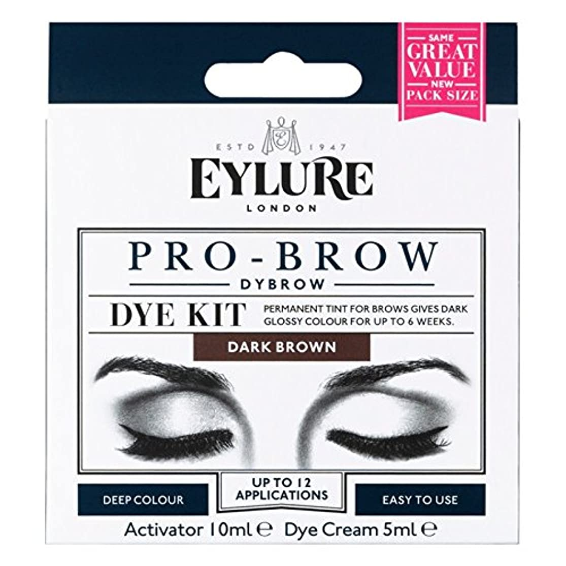 創造雷雨ルートEylureプロ眉6週間の眉色素キットダークブラウン (Eylure) - Eylure Pro-Brow 6 Weeks Brow Dye Kit Dark Brown [並行輸入品]