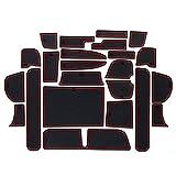 ホンダ フリード 2016 FREED GB5/6/7/8 専用 内 内装 ドレスアップ アクセサリー カノンスリップ マット 赤/光沢のある白/黒 23P (赤)