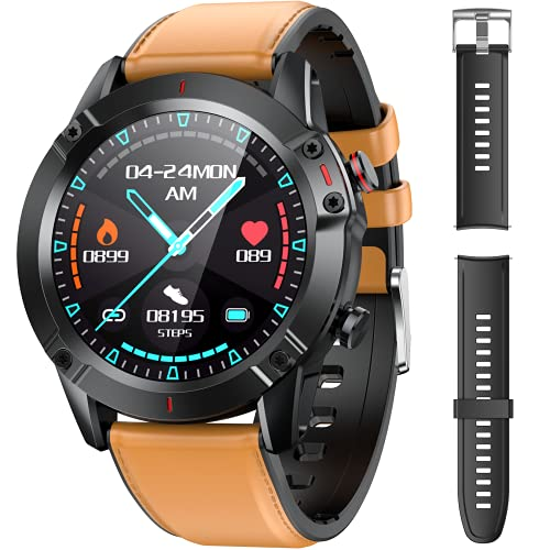 AGPTEK Smartwatch Uomo Orologio Fitness con Cinturino di Ricambio Touchscreen 1.3  Cardiofrequenzimetro da Polso Contapassi Activity Tracker Impermeabile IP68 per Android iOS