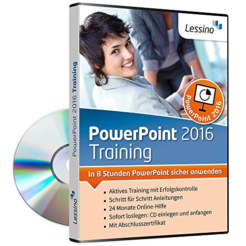 PowerPoint 2016 Training - In 8 Stunden PowerPoint sicher anwenden | Einsteiger und Auffrischer lernen mit diesem Kurs Schritt für Schritt die sichere Anwendung von PowerPoint [1 Nutzer-Lizenz]