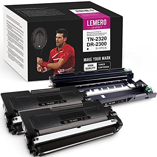 LEMERO UEXPECT TN2320 & DR2300 Compatible avec Brother TN2310 TN-2310 & DR-2300 pour Brother MFC-L2700DW MFC-L2720DW HL-L2340DW DCP-L2520DW HL-L2300D DCP-L2500D HL-L2360DN DCP-L2360000DN -L2560. DW