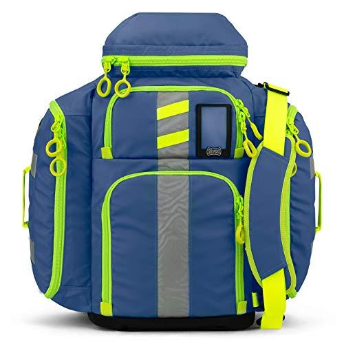 Statpacks G3 Perfusion Blue, EMS Medic Hybrid Backpack, Side Sling, Shoulder Bag, Ergonomic, Lightweight ALS Trauma Bag for EMS, Police, Firefighters