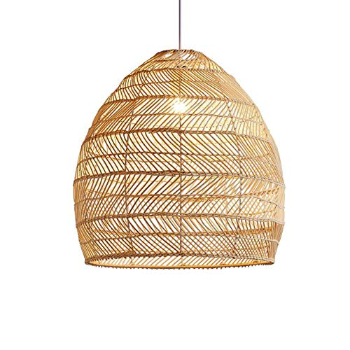 MADBLR7 Candelabros, Estilo Chino Creativo Creativo HÉDORO HANDOJO Bamboo Ratan Rattan Chandeliers Lantern Cocina DE Cocina PENDIZAJE Luces DE Sushi Tienda de restaurantes Lámpara Colgante, E27 (43 *