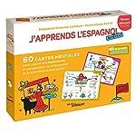 J'apprends l'espagnol autrement - Niveau débutant - 80 cartes mentales pour apprendre facilement la grammaire,la conjugaison et le vocabulaire espagnols ! + 1 livret explicatif de Filf