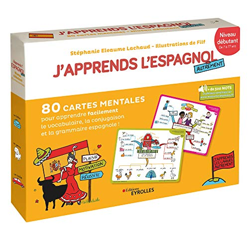 Photo de japprends-lespagnol-autrement-niveau-debutant-80-cartes-mentales-pour