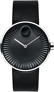 Movado Edge Black Aluminum Dial Swiss Quartz Mens Watch 3680002
