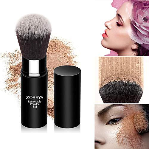 Pinceau de maquillage en poudre rétractable - pinceaux de maquillage en fibres synthétiques, outils de beauté cosmétiques professionnels, pour Foundation Blush Brush for Mineral Liquide Crème Poudre