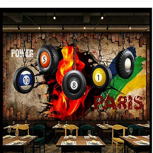 Billard Bild wal Hintergrund Tapeten Dekor 3D Wallpaper für Wände Tischtennis Poster Dekorative Wandbild Tapeten