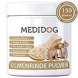Medidog Ulmenrinde Pulver für Hunde und Katzen 150g Prebiotika, Magen, Darm, Verdauung, Ballaststoffe, Darmflora mit Kalzium, Darmsanierung. Darmaufbau nach Durchfall