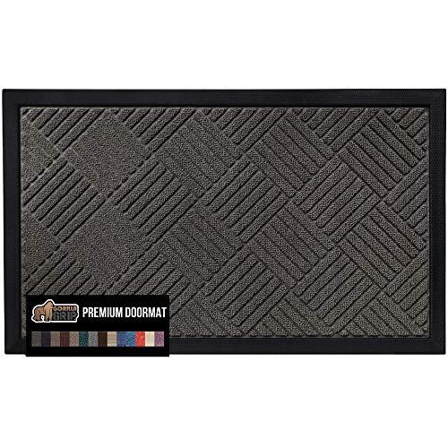 Gorilla Grip Original Durable Natural Rubber Door Mat, 23x35, Heavy Duty Doormat for Indoor Outdoor,...