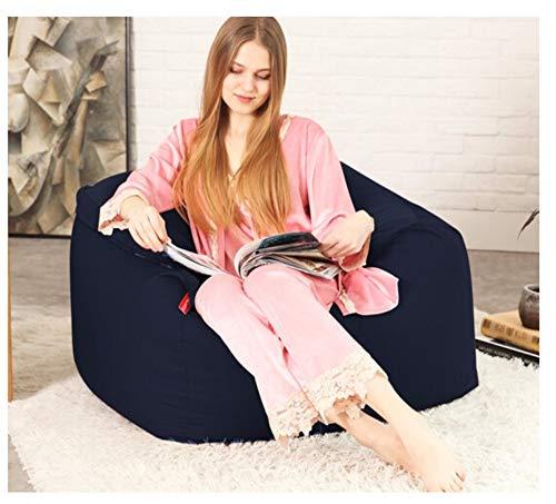 length Suave algodón Lazy Couch Bean Bag Tatami Balcón Dormitorio Sala de Estar Oficina Grueso Individual Suave Sección pequeña Sección Grande (Color : Navy, Size : S)