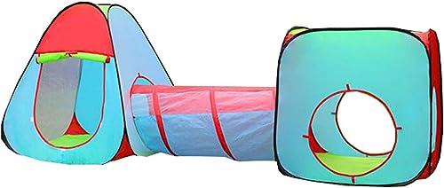 para proporcionarle una compra en línea agradable QHWJ Casa de Juguete, casa de Juguete Modular para para para Juegos de Color al Aire Libre para Niños, Plegable portátil de Tres Piezas con túnel Interior Tienda de Juegos  El nuevo outlet de marcas online.