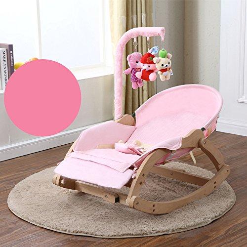 Baby Schaukelstuhl Liegestühle Beruhigende Vibration Komfort Stuhl Kind Schaukel Wiege BB Wiege Bett Schlaf Artefakt Massivholz,F