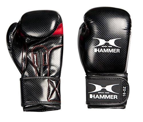 Hammer Damen Boxhandschuhe Handschuhe X-Shock Lady, Schwarz/Rot, 8 oz