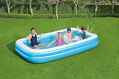 Homespired Bestway - Piscina hinchable rectangular (2,62 m x 1,75 m x 51 cm, incluye globo de agua para diversión extra de verano