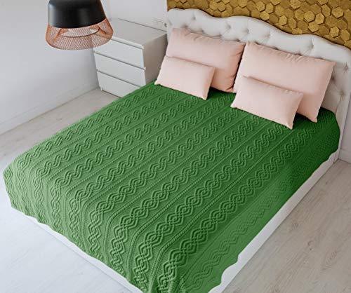 SAOL Manta de lana merino 100% súper suave