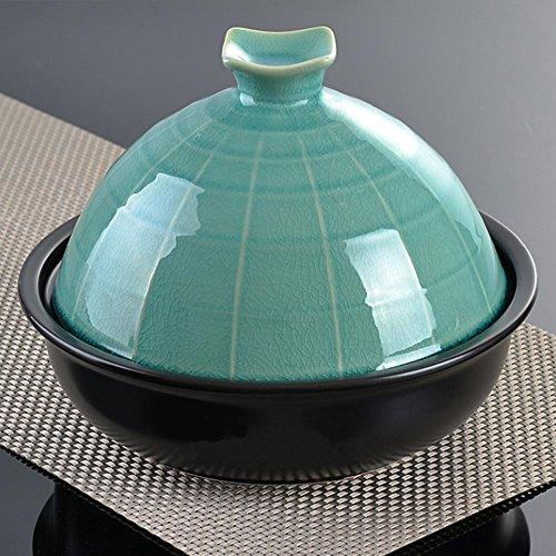 LXZ Tajine En Fonte Avec Couvercle En Céramique Couleur De 3L,26.5 Cm , Blue