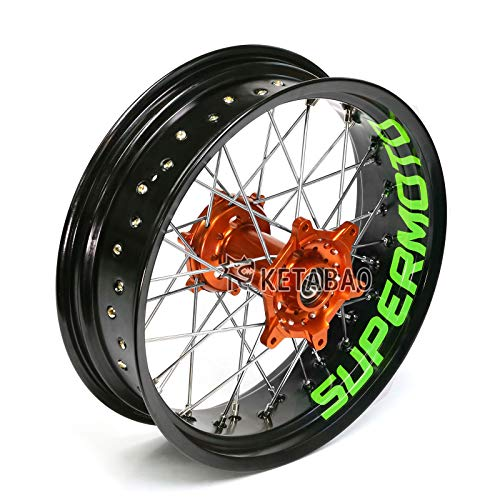KETABAO Supermoto Wheels 17' Inner Rim Stickers Decals Compatible with KX450F KXF450 KX500 13 14 15 16 17 (Green)