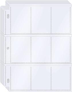 KITOYZ 288 Pockets Trading Card Binder Baseball Card Sleeves, Football Card Holder for 3 Ring Binder, Clear Cards Collecto...