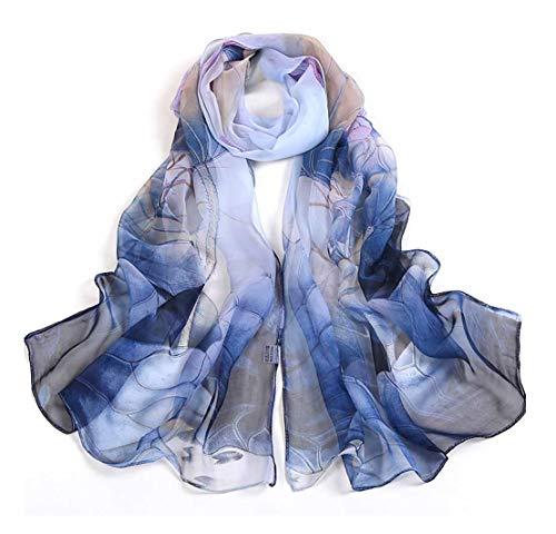 Fashion Scarves Lightweight Shawl Scarf Sunscreen Shawls for Womens (Dark Purple)