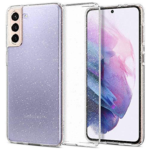 Spigen Cover Liquid Crystal Glitter Compatibile con Samsung Galaxy S21 5G - Crystal Quartz