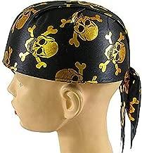 Piraten Cap Bandana met gouden doodskoppen Hallowe...