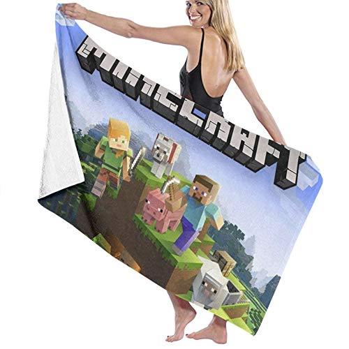 Mine_Craft schnelltrocknendes Handtuch, Mikrofaser, super saugfähig, leicht, Handtuch für Schwimmer, Badetuch für Kinder und Erwachsene, Pool, Wassersport