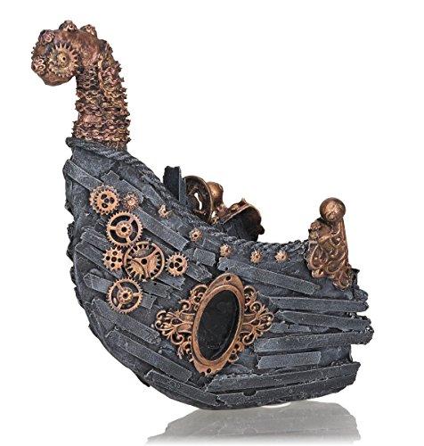 OASE biOrb 55033 Schiffswrack Ornament – detaillierte Aquariendekoration in 360-Grad-Ausführung zur maritimen Einrichtung von Süßwasseraquarien und Meerwasseraquarien