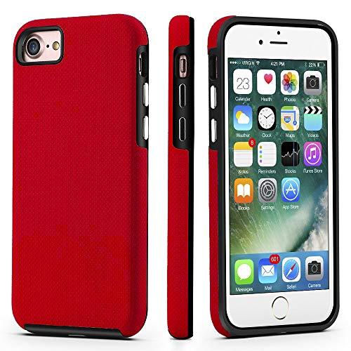 CellEver Dual Guard Protective Cover Compatible with iPhone SE 2020 Case/iPhone 7 Case/iPhone 8 Case, Shock-Absorbing Scratch-Resistant Rugged Drop...