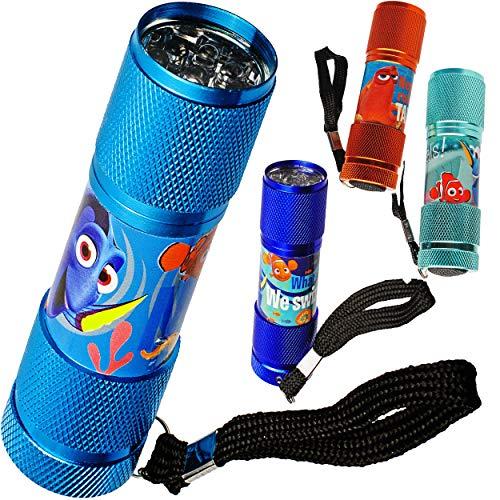 Preisvergleich Produktbild alles-meine.de GmbH 2 Stück _ Taschenlampen LED - Disney Findet Nemo - aus Metall - Mini Lampe / Schlüsselanhänger - 9 Fach LEDlicht - bunter Farbmix - Licht Auto Kindertaschenla..