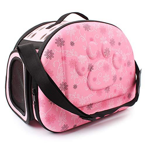 Sinbide Transporttasche für Hunde und Katzen, Kaninchen, atmungsaktiv, abnehmbar, waschbar, faltbar, Oxford (Rosa)