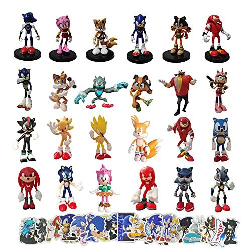 Sonic Collection Tortenaufsatz, Motiv: Sonic The Hedgehog, 24 Stück