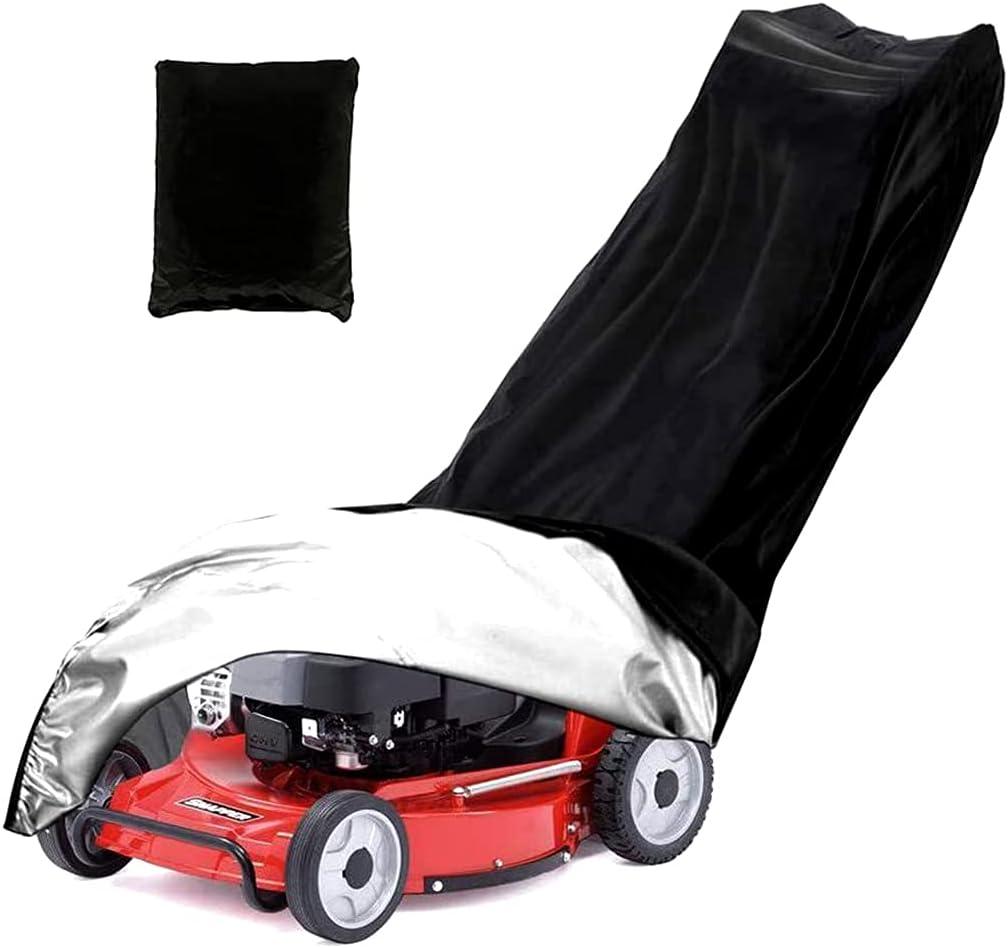 NIVC Universal Push Lawn Tractor Cortacésped Cubierta Oxford Tela impermeable resistente a la intemperie con protección contra el polvo negro