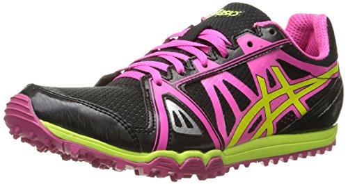 ASICS Women's Hyper Rocketgirl XCS Spike Shoe, Black/Hot Pink/Flash Yellow, 10 M US