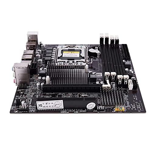 Auoeer X58F LGA1366 computadora Principal de Escritorio con SATA 3.0/2.0 USB 2.0 DDR3 1600 64G 2 Canales Placa Base para Intel