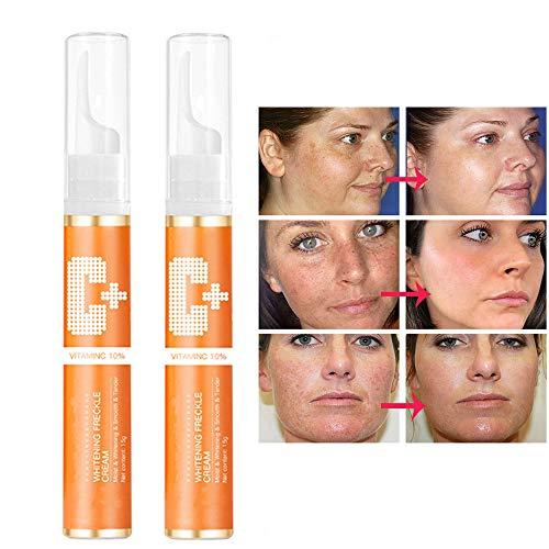 2Pcs Instant Blemish Removal Gel, Dark Spot Corrector Lightening Serum, Vitamin C Age Spot Dark Spot Remover Moisturizing, Anti Aging, Breakout & Blemish, Wrinkle Reducing Exfoliating Gel