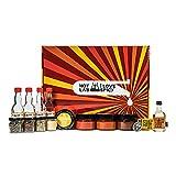 I LOVE SPICY Kit de Salsa Picante Casera 4 x 100 ml Puré de Ají (Trinidad Scorpion, Hot Portugal, Bhut Jolokia, Habanero), Especias, 2 x 50 ml de Vinagre (Sidra y Blanco)