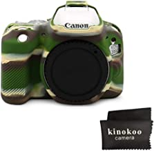 kinokoo Silicone Cover for Canon EOS 200D Rebel SL2  Canon EOS 250D 200D II Rebel SL3 Protective Case  camouflage-b